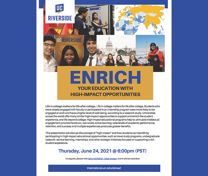 Enrich your Education with High-Impact Opportunities