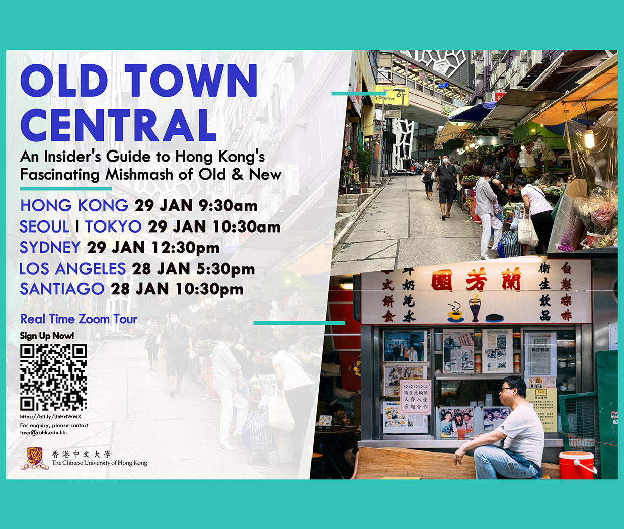 Old Town Central: A Real-Time Online Tour in Hong Kong